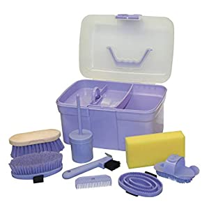 Kerbl horse cleaning box, filled for children