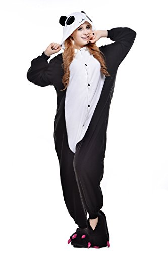 tüm Jumpsuit Tier Schlafanzug Erwachsene Unisex Fasching Cosplay Karneval (M, Red Eye Panda) ()