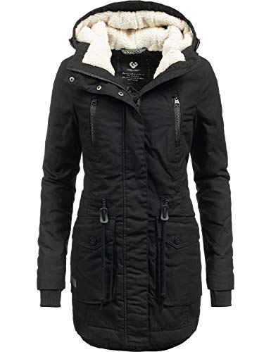 Ragwear Damen Wintermantel Winterparka ELSA Black018 Gr. M Mantel Wintermantel