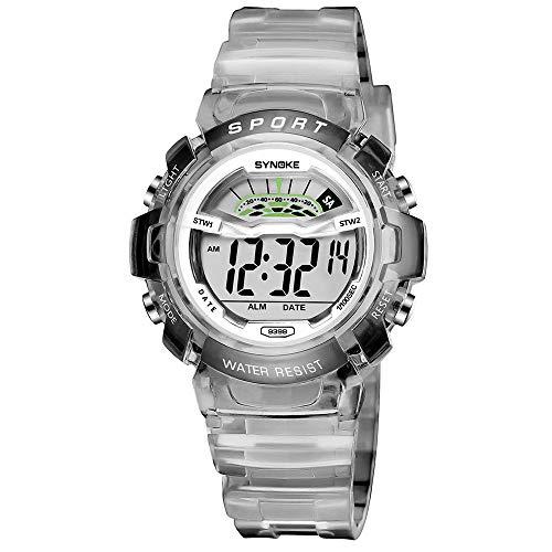 95e33cc6db46 Bestow Reloj Deportivo LED Reloj de Fecha Reloj Digital Impermeable  Luminoso Impermeable para Ni os
