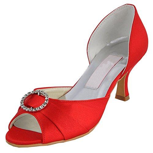 Minitoo , Chaussures de mariage tendance femme Red-6.5cm Heel