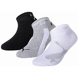 Puma 204202001 - Calcetines cortos para niños, conjunto de 3, multicolor, talla 35-38