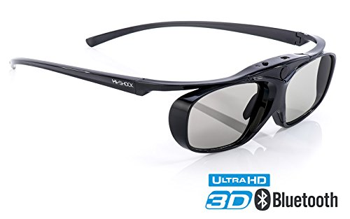 Hi-SHOCK® 3D-BT Pro Black Heaven | Smart Active 3D Brille für 3D TVs von Sony, Samsung, Panasonic, | komp mit SSG-3570 CR / TDG-BT500A / AN3DG35 / TY-ER3D6ME [120 Hz | Akku | Bluetooth] (Smart 3d)