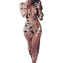 Yesmile Vestido de Mujer Vestido de Estampado Vestido Elegante de Noche para