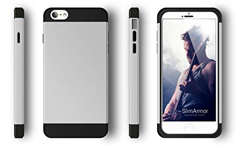 vau iPhone 6 Slim Armor - Vacant White - Hülle, Case für Apple iPhone 6 Classy Silver