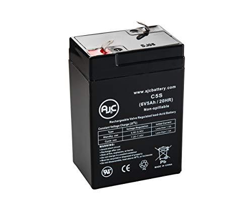 Batterie AJC Battery Brand Replacement for Werker WKA6-5F 6V 5Ah Acide scellé de Plomb - Ce Produit est Un Article de Remplacement de la Marque AJC®