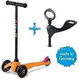 Micro mitwachsender Kinderroller Mini Micro 3in1 in Neon Orange