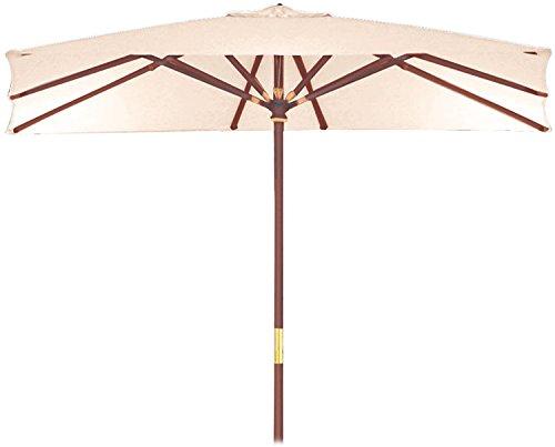 GDLC Parasol en Bois Sun Top 300x 400mm Poteau.50ameublement extérieur Piscine