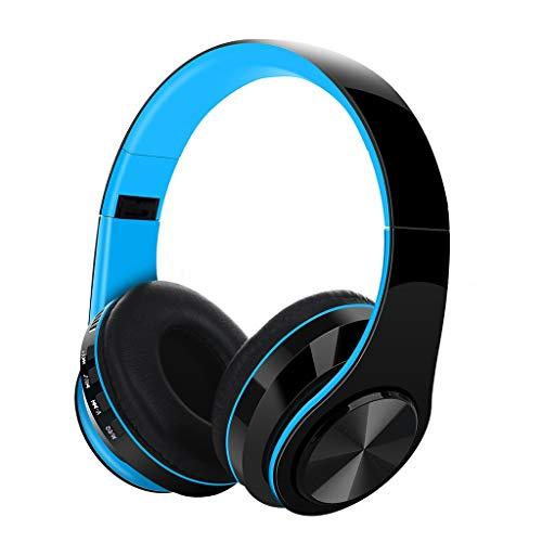 Elospy Bluetooth 5.0 Kopfhörer, kabellos HiFi Stereo Supra-Aural Ohrenschützer ohrhörer Outdoor Wireless rauschunterdrückung Headset TF-Karte 3,5 mm Schnittstelle 10 Stunden Spielzeit für Handy pc