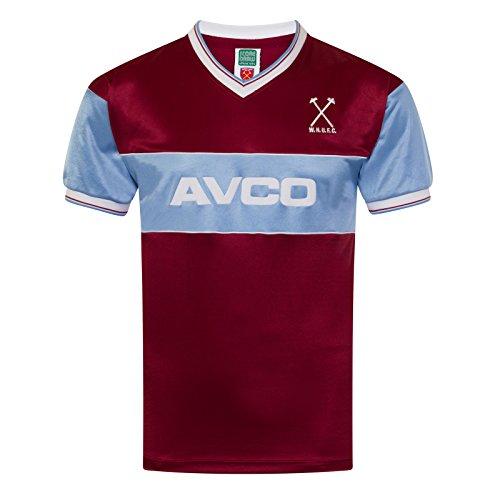 West Ham United 1983 camisa - multicolor, 2X-LARGE