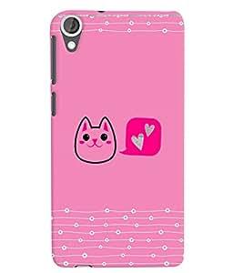 Citydreamz Hello Kitty\Cute Cartoon Hard Polycarbonate Designer Back Case Cover For HTC Desire 728