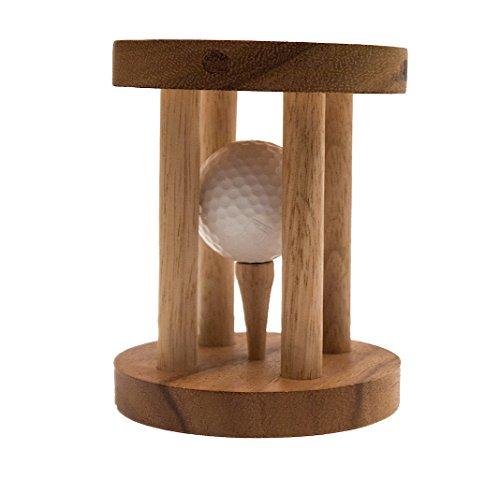 Golfball im Knast, ein lustiges Geschenk nicht nur für Golf-Fans, Holzspiel, Denkspiel, Knobelspiel, Geduldspiel aus Holz
