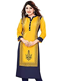Meher Impex Long Rayon Straight Kurti
