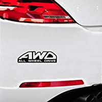 Car Sticker Decals 20x5.5Cm AWD All Wheel Drive Car Sticker Decal Decorative Stickers Car Styling for Car Laptop Window Sticker