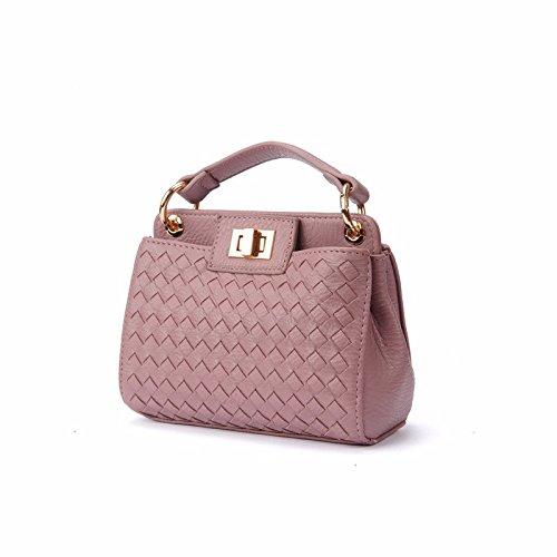 meine damen - handtasche mini - schrägen weben tasche melone farbe