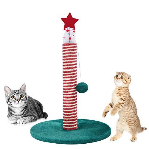 HANPIN-PETS Katzenkratz Spalt Weihnachtskatzen-Baum-Katze Hammock Sisal Spalte Katze mit Schaber und hohe Spielzeug Klettern Aktivität Turm -