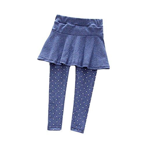 Minuya Baby Mädchen Einfarbig Gepunktet Stretch Elastischer Bund Leggings Hose Röcke Leggins Strumpfhose1-7 Jahre (Rock Bleistift Passend)