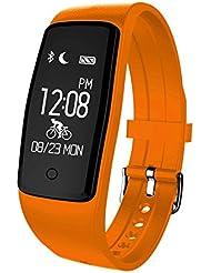 fitsports S1Bracelet intelligent Santé Bracelet Montre étanche Sport Fitness Tracker d'activité de Sommeil Tracker Bracelet Télécommande Bluetooth 4.0Sport Calories Podomètre compatible avec Android iOS