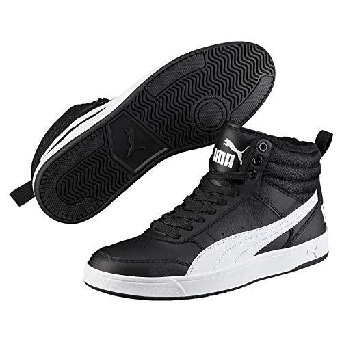 Puma Unisex-Erwachsene Rebound Street V2 FUR Hohe Sneaker, Schwarz Black White 05, 39 EU