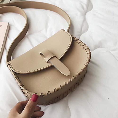 Dkings Frauen Mode Tasche einfache einfarbige eine Schultertasche Kinder Stiletto Tasche Modetasche