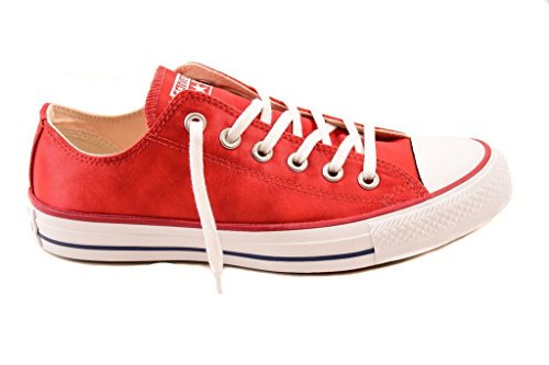 Converse - Chuck Taylor All Star HI - 153794C - Color: Blanco-Rojo - Size: 39.0 FlbCla7k9