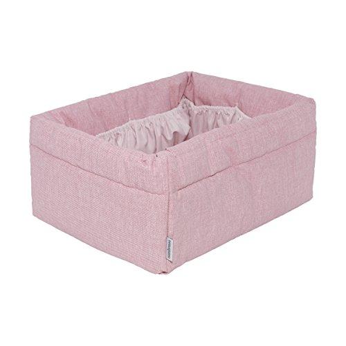 Preisvergleich Produktbild Cambrass 38791 Aufbewahrungskorb mit Kissen, 22.5 x 29 x 14 cm, Denim rosa