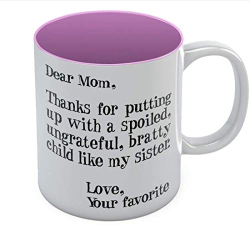 TK.DILIGARM Funny Mom Gift for Christmas/Mother's Day Ceramic Coffee Mug 11 Oz. Red