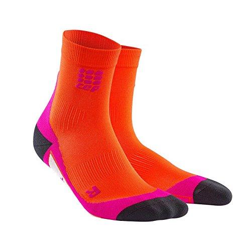 CEP Damen Dynamic Short Socken, Orange, 3