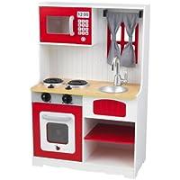 KidKraft 53299 Cucina giocattolo Country legno per bambini, Rosso