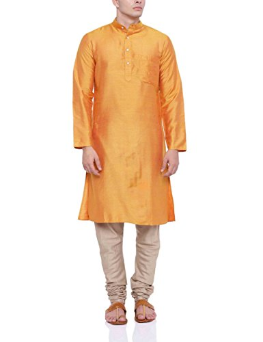 Fabindia Men's Knee Long Silk Kurta