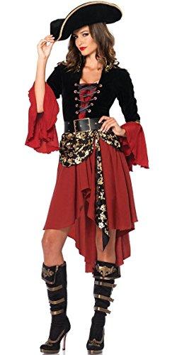 I-CURVES Damen mittelalterlichen servieren Mench grausame Meere Kapitän Pirat Kostümgröße 38-40