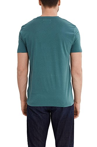 ESPRIT Collection Herren T-Shirt Grün (Emerald Green 305)