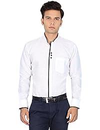 The Standard Men's Chinese Collar Party Wear Shirt, Designer Print
