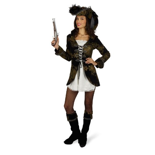 Piratin Jacky Kostüm Damen Gr. 40 ()
