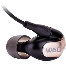 Westone W60 Écouteurs intra-auriculaires isolants avec six transducteurs à armature équilibrée incluant micro et télécommande iPhone