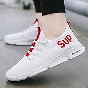 BUCADIA Men' S Mesh Savar Black White Running Sports Walking Casual Sneakers Shoes Gym Shoe