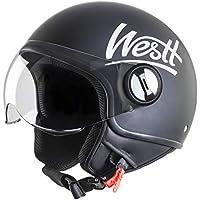 Westt® Classic · Casco da Moto Nero Opaco · Omologato ECE