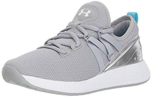 Under Armour Damen Breathe Trainer Fitnessschuhe, Schwarz Overcast Gray/Metallic Silver/White, 39 EU -