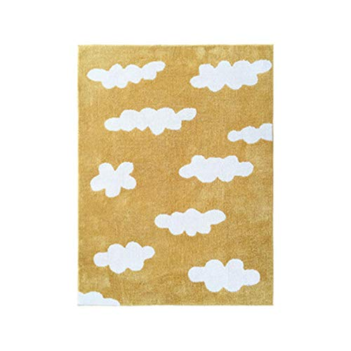 WSLTH Carpets Area Rugs Designs Baby Playmat Play Gym Mat Activity Gym Floor Mat Soft Sleeping Mat Living Room Children's Room Bedroom Babies Room@120 * 160 CM_Yellow