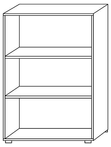 Bümö® Aktenregal aus Holz | Büroregal für Aktenordner | Regal für Ordner | Bücherregal inkl. Einlegeböden | in 5 Farben verfügbar (Weiß, H 114cm = 3 Ordnerhöhen)