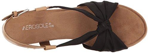 Aerosoles Plush Pillow Femmes Toile Sandales Compensés Black