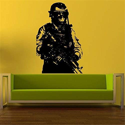 xingbuxin Dekoration zubehör Soldaten wandaufkleber Sniper militär Vinyl Aufkleber raumdekoration kunstwand modernes Design rot 58 X 88 cm -