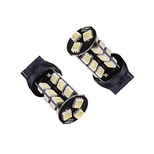 2 x Lampadine LED CANBUS T20 7443 W21/5 W 27 SMD 5050 Bianco Posicion freni (Kit Luce Freno Kit)