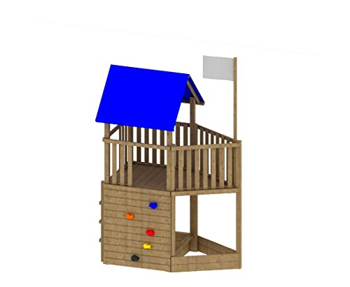 bambus-discount.com Spielturm Piratenwelt FIPS, 109x196x290cm Spielhaus System aus Holz, Kletterturm, Spielwelt - Kinderspielgeräte für Garten, Spielgeräte für Kinder, Spielturm, Spieltürme
