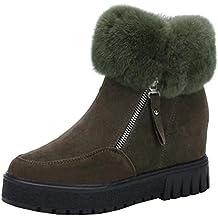 Botas, Manadlian Calzado de invierno cálido para mujer Casual nieve Botines cortos (EU:36, Verde)