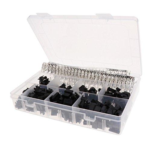 Preisvergleich Produktbild B Blesiya 2, 3,  4,  5 Pin JST SM-Verbindungsstück 2, 5 mm Mit Crimp Terminal Set