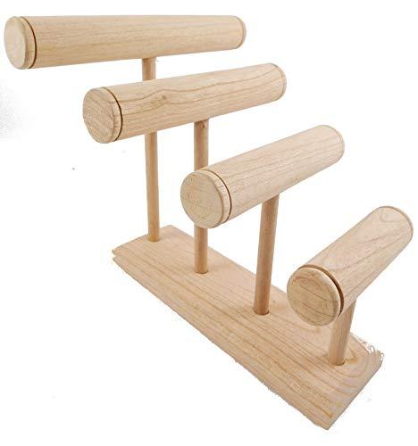 Grand Etagere Armbänder/Uhren 4Armbandhalter Holz roh -