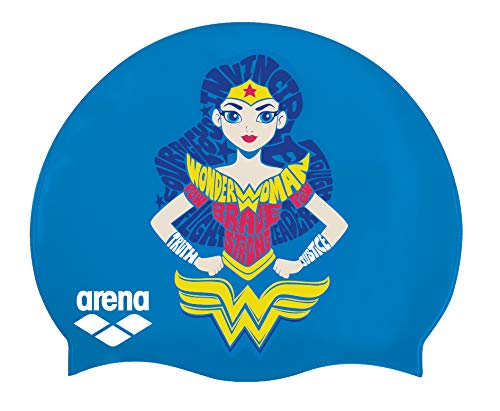 Arna Super Hero Jr Gorro Azul/Blanco Wonder Woman, Color Azul/Blanco, tamaño Talla única