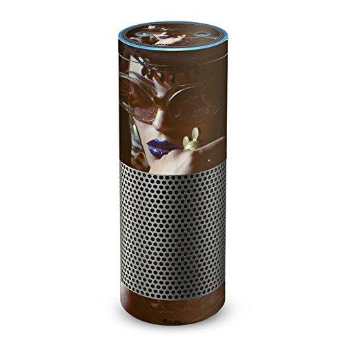 DeinDesign Amazon Echo Plus Folie Skin Sticker aus Vinyl-Folie Frau Woman Sonnenbrille