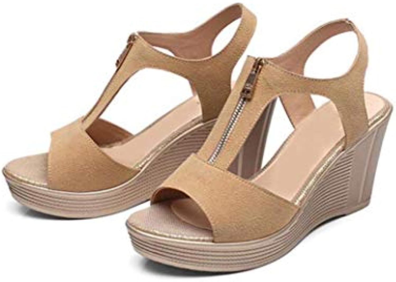 Sandali da Donna con la Suola Suola Suola Spessa Velcro Summer New Wild Shake scarpe di Taglia Piccola 33 Scarpe col Tacco... | Abbiamo ricevuto lodi dai nostri clienti.  d3df8e